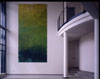 <b>Eingangshalle: Grünes Bild</b><br>1996, Tempera auf eloxiertem Aluminium, 500x 250 cm,<br>Kurzentrum Bad Suderode/Harz<br><em><b>Entry hall: Green painting</b><br>1996, tempera on anodized aluminum, 500x 250 cm</em><br> Photo: David Janacek<br>© VG Bild Kunst