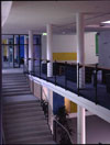 <b>Kurzentrum Bad Suderode/Harz</b><br>     1996, Farbgestaltung Übergang EG zur Wandelhalle<br>     <em><b>Recreation center Bad Suderode/Harz</b><br>     1996, colors paintings in the recreation center</em><br>     Photo: David Janacek<br>© VG Bild Kunst