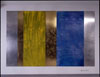 <b>Kurzentrum Bad Suderode/Harz</b><br>     1996, Tempera auf eloxiertem Aluminium, Messing und hochpoliertes Aluminium<br>     <em><b>Recreation center Bad Suderode/Harz</b><br>     1996, tempera on anodized aluminum,Brass, Aluminum</em><br>     Photo: David Janacek<br>© VG Bild Kunst